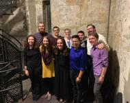 Students who performed in the annual Homecoming Campaniling concert