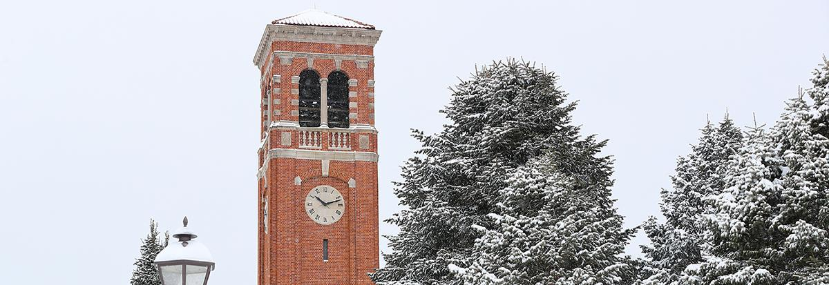 UNI Campanile at winter